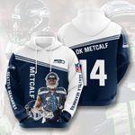Seattle Seahawks DK Metcalf 3D All Over Print Hoodie, Zip-up Hoodie