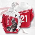Atlanta Falcons Deion Sanders 3D All Over Print Hoodie, Zip-up Hoodie