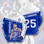 Philadelphia 76ers Ben Simmon 3d All Over Print Hoodie, Zip-Up Hoodie