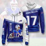 Buffalo Bills Josh Allen 3D All Over Print Hoodie, Zip-up Hoodie