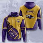 Baltimore Ravens 3D All Over Print Hoodie, Zip-up Hoodie