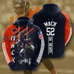 Chicago Bears Khalil Mack 3D All Over Print Hoodie, Zip-up Hoodie