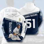 Seattle Mariners Ichiro Suzuki 3d All Over Print Hoodie, Zip-Up Hoodie
