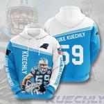 Carolina Panthers Luke Kuechly 3D All Over Print Hoodie, Zip-up Hoodie
