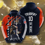 Chicago Bears Mitchell Trubisky 3D All Over Print Hoodie, Zip-up Hoodie