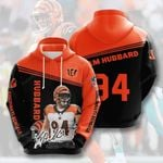Cincinnati Bengals Sam Hubbard 3D All Over Print Hoodie, Zip-up Hoodie