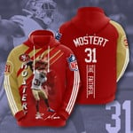 San Francisco 49ers  Mostert 3D All Over Print Hoodie, Zip-up Hoodie