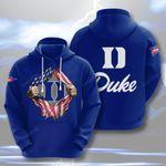 Sports American Footbal Duke 3D All Over Print Hoodie, Zip-up Hoodie