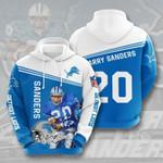 Detroit Lions Barry Sanders 3D All Over Print Hoodie, Zip-up Hoodie