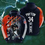 Sports American Nfl Chicago Bears Walter Payton  3D All Over Print Hoodie, Zip-up Hoodie