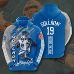 Detroit Lions Kenny Golladay 3D All Over Print Hoodie, Zip-up Hoodie