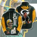 Green Bay Packers Brett Favre 3D All Over Print Hoodie, Zip-up Hoodie