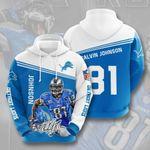 Detroit Lions Calvin Johnson 3D All Over Print Hoodie, Zip-up Hoodie