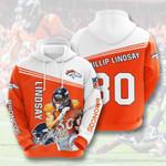Denver Broncos Phillip Lindsay 3D All Over Print Hoodie, Zip-up Hoodie