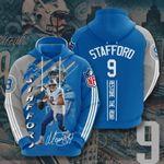 Sports American Nfl Detroit Lions Matthew Stafford 3D All Over Print Hoodie, Zip-up Hoodie