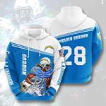 Sports American Nfl Los Angeles Chargers Melvin Gordon 3D All Over Print Hoodie, Zip-up Hoodie