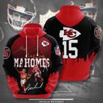 Sports American Nfl Kansas City Chiefs Patrick Mahomes 3D All Over Print Hoodie, Zip-up Hoodie