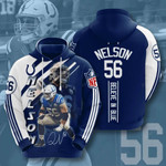 Sports American Nfl Indianapolis Colts Quenton Nelson 3D All Over Print Hoodie, Zip-up Hoodie