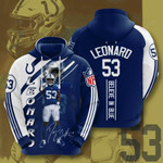 Indianapolis Colts Darius Leonard 3D All Over Print Hoodie, Zip-up Hoodie