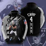 Sports American Nfl Las Vegas Raiders Derek Carr 3D All Over Print Hoodie, Zip-up Hoodie