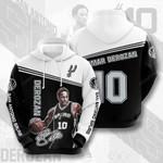 San Antonio Spurs DeMar DeRozan 3D All Over Print Hoodie, Zip-up Hoodie