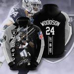 Sports American Nfl Las Vegas Raiders Charles Woodson 3D All Over Print Hoodie, Zip-up Hoodie