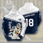 Los Angeles Rams Cooper Kupp 3D All Over Print Hoodie, Zip-up Hoodie