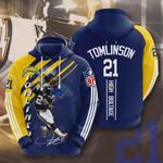 Los Angeles Chargers Ladainian Tomlinson 3D All Over Print Hoodie, Zip-up Hoodie