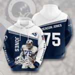 Los Angeles Rams Deacon Jones 3D All Over Print Hoodie, Zip-up Hoodie