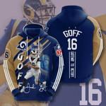 Los Angeles Rams Jared Goff 3D All Over Print Hoodie, Zip-up Hoodie