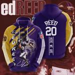 Nfl Baltimore Ravens Ed Reed 3D All Over Print Hoodie, Zip-up Hoodie