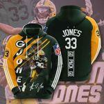 Sports American Nfl Green Bay Packers Aaron Jones 3D All Over Print Hoodie, Zip-up Hoodie