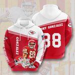 Sports American Nfl Kansas City Chiefs Tony Gonzalez 3D All Over Print Hoodie, Zip-up Hoodie