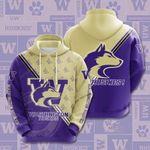 Ncaa Washington Huskies 3D All Over Print Hoodie, Zip-up Hoodie