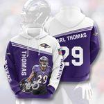 Nfl Baltimore Ravens Earl Thomas 3D All Over Print Hoodie, Zip-up Hoodie