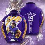 Sports American Nfl Minnesota Vikings Adam Thielen 3D All Over Print Hoodie, Zip-up Hoodie