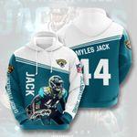 Sports American Nfl Jacksonville Jaguars Myles Jack 3D All Over Print Hoodie, Zip-up Hoodie