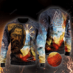 Odin Viking Ugly Ugly Christmas Sweater, All Over Print Sweatshirt