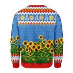Sunflower Leo Running With Water Gun Ugly Christmas Sweater, All Over Print Sweatshirt