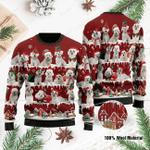 Maltese  Ugly Christmas Sweater, All Over Print Sweatshirt