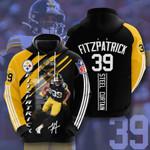 Pittsburgh Steelers Ryan Fitzpatrick 3D All Over Print Hoodie, Zip-up Hoodie