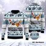 Santa Clause Walkin' In A Wiener Wonderland Ugly Christmas Sweater, All Over Print Sweatshirt