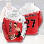 Sports Portland Trail Blazers Basketball Team Jusuf Nurkic 3D All Over Print Hoodie, Zip-up Hoodie