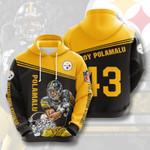 Pittsburgh Steelers #43 3D All Over Print Hoodie, Zip-up Hoodie