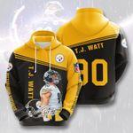 Pittsburgh Steelers J.J Wait  3D All Over Print Hoodie, Zip-up Hoodie
