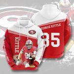 San Francisco 49ers George Kittle 3d All Over Print Hoodie, Zip-Up Hoodie