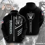 Oakland Raiders  3D All Over Print Hoodie, Zip-up Hoodie