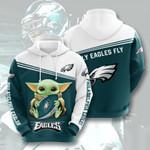 Philadelphia Eagles Yoda 3D All Over Print Hoodie, Zip-up Hoodie