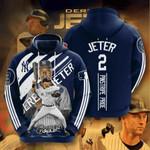Mlb New York Yankees Derek Jeter 3d All Over Print Hoodie, Zip-Up Hoodie