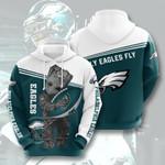 Philadelphia Eagles Groot 3D All Over Print Hoodie, Zip-up Hoodie